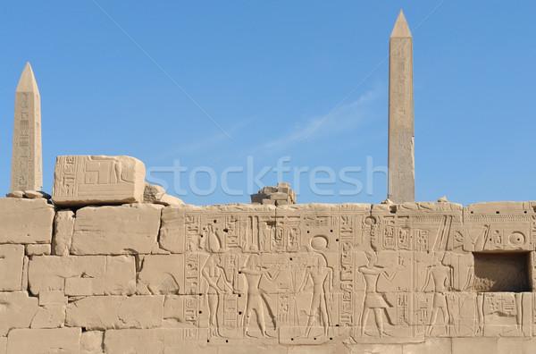 obelisks at Precinct of Amun-Re in Egypt Stock photo © prill