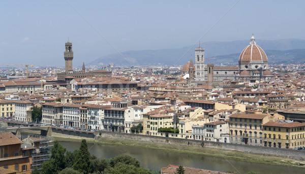Photo stock: FLORENCE · ensoleillée · panoramique · vue · Toscane