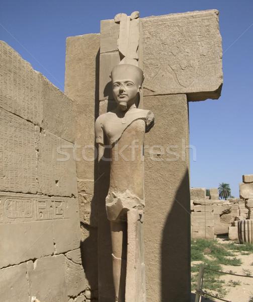 statue around Precinct of Amun-Re Stock photo © prill