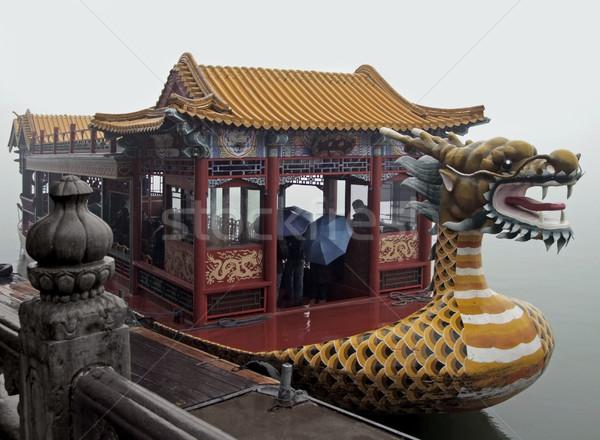 Dragon Boat in China Stock photo © prill