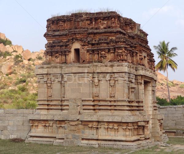 Tapınak şehir güney batı Hindistan Bina Stok fotoğraf © prill