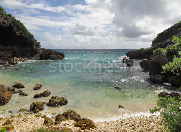 Sahil manzara pastoral caribbean ada deniz Stok fotoğraf © prill