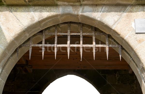 Gate at Mont Saint Michel Abbey Stock photo © prill