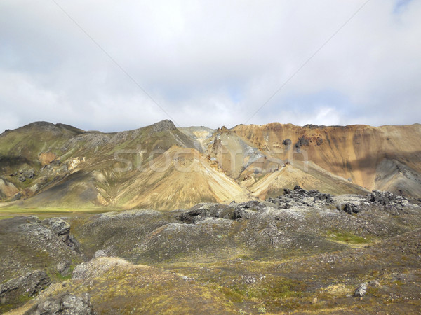 mountain scenery in Iceland Stock photo © prill
