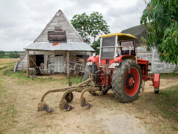 Mezőgazdasági díszlet Kuba vidéki gazdálkodás ház Stock fotó © prill