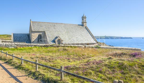 Kapel van water muur landschap kerk Stockfoto © prill