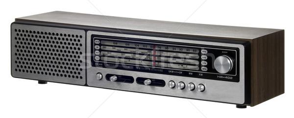 Foto stock: Nostálgico · rádio · branco · de · volta · estúdio · fotografia