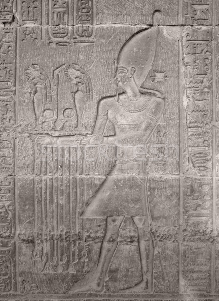 ancient stone relief showing Pharao Stock photo © prill