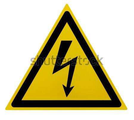 High Voltage Sign Stock photo © prill
