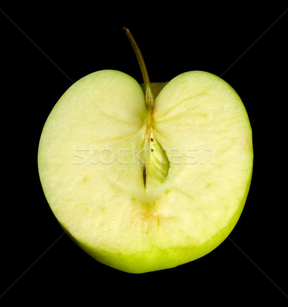 halved green apple Stock photo © prill