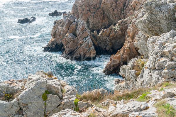 風景 周りに 風景 海 岩 ストックフォト © prill