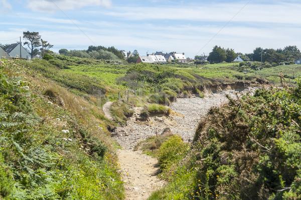 Yarımada sahil manzara manzara kum taş Stok fotoğraf © prill