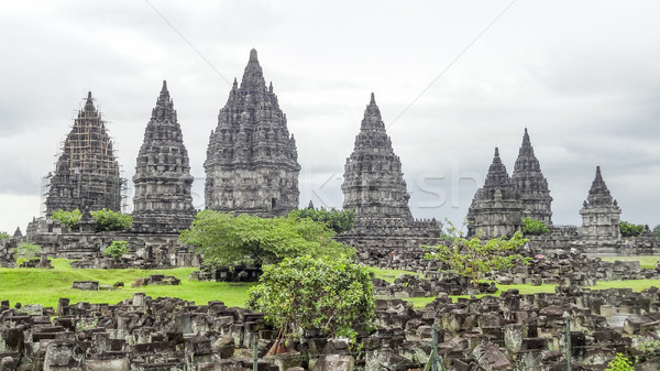 Prambanan in Java Stock photo © prill