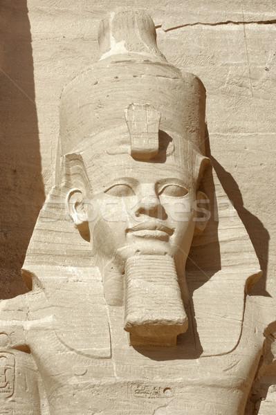 Ramesses portrait at Abu Simbel temples Stock photo © prill