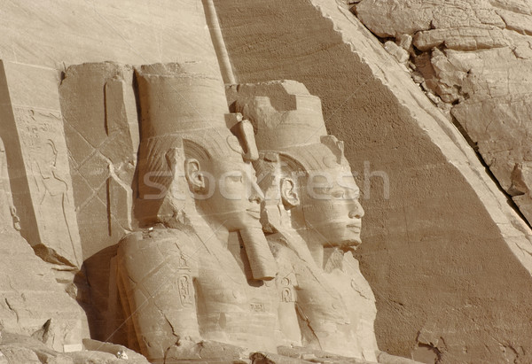 sculptures at Abu Simbel temples in Egypt Stock photo © prill