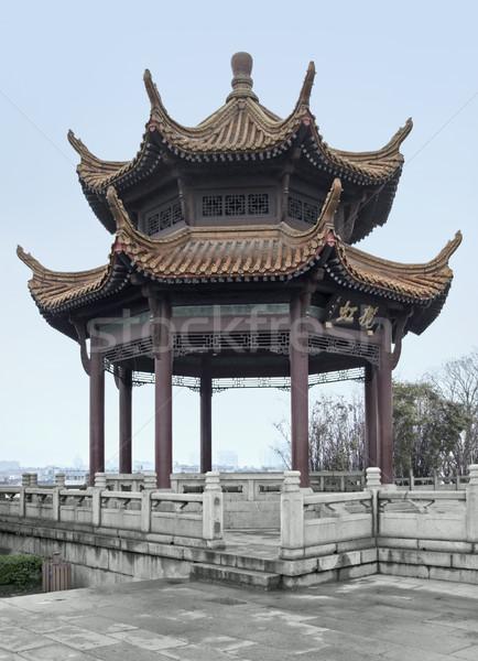 pavilion in Wuhan Stock photo © prill