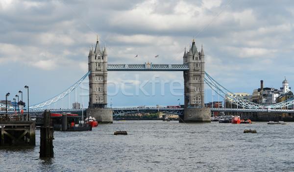 Tower Bridge Londra thames muro strada estate Foto d'archivio © prill