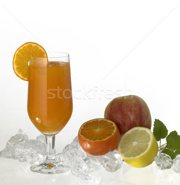 glass of fruit juice Stock photo © prill