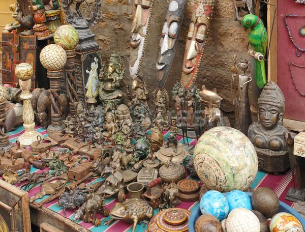 インド 市場 芸術 文化 彫刻 誰も ストックフォト © prill