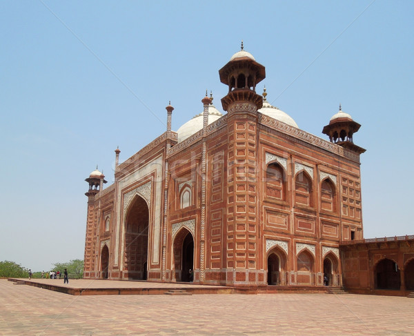 red Building in Agra Stock photo © prill