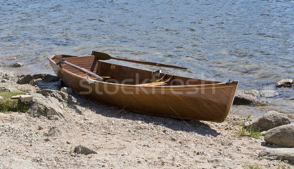 wooden rowboat waterside Stock photo © prill