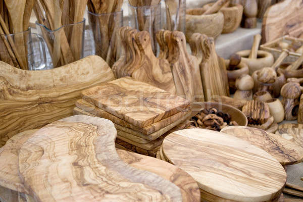 wooden craft products Stock photo © prill
