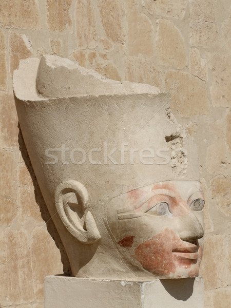 ancient head of Hatschepsut Stock photo © prill