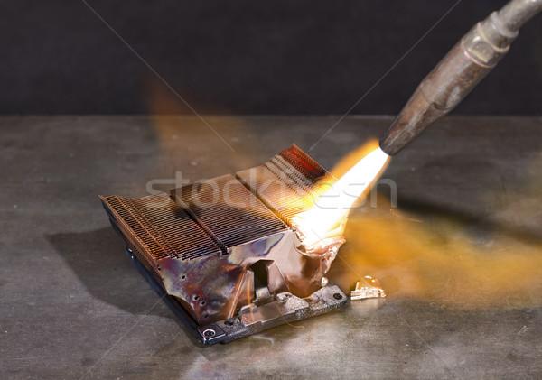 melting heat sink Stock photo © prill
