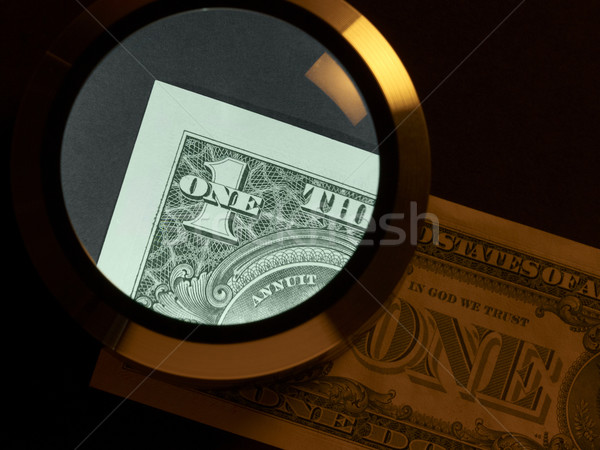 Stock photo: dollar and magnifier