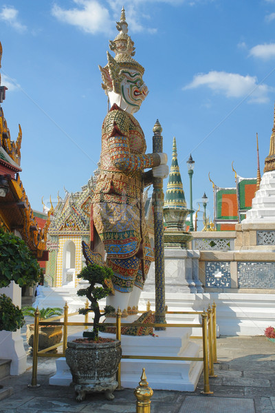 Saray heykel Bangkok Tayland Bina seyahat Stok fotoğraf © prill