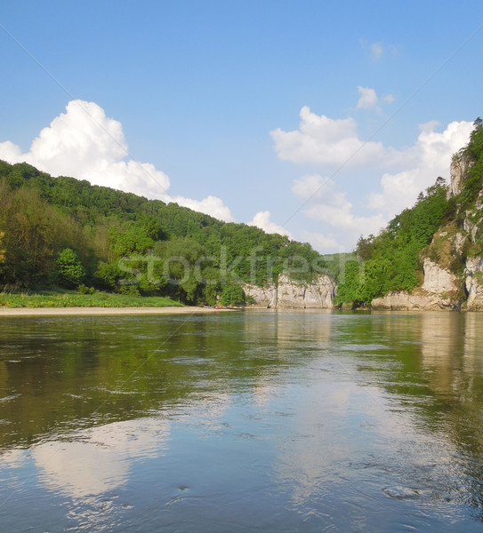 ドナウ川 川 風景 周りに 水 ストックフォト © prill