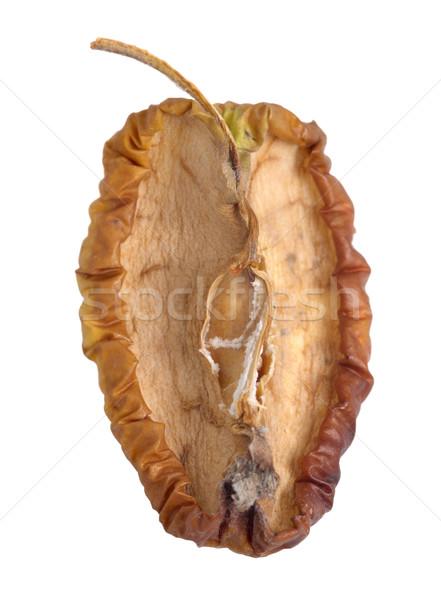 Rot appel stuk witte Maakt een reservekopie voedsel Stockfoto © prill
