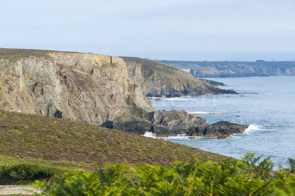 Pointe de Pen-Hir in Brittany Stock photo © prill