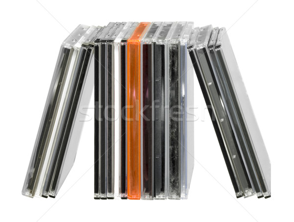 upright CD jewel cases Stock photo © prill