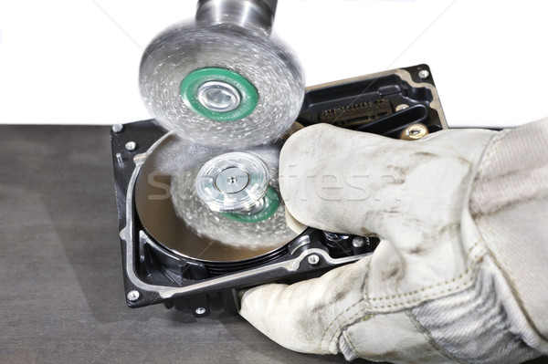 scrubbing a hard disk Stock photo © prill