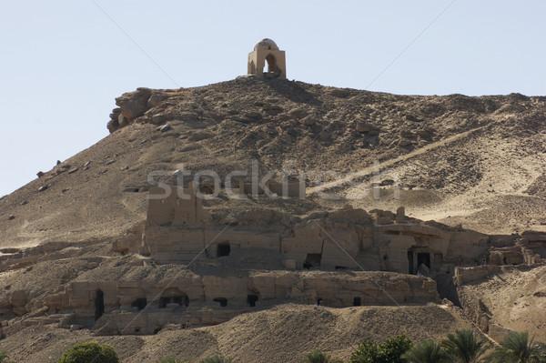 Stockfoto: Rond · mausoleum · zonnige · landschap · landschap · reizen