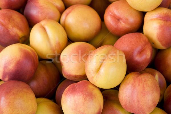 lots of fresh nectarines Stock photo © prill