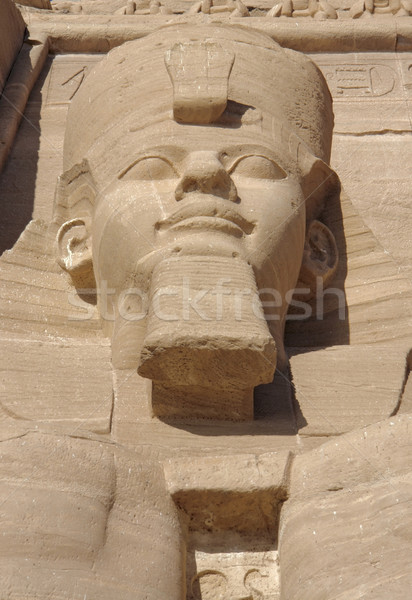 Ramesses at Abu Simbel temples in Egypt Stock photo © prill