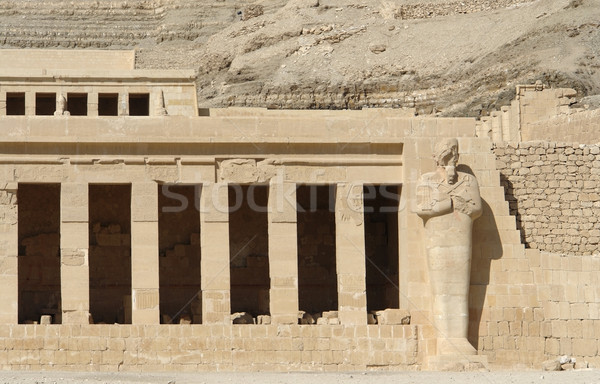 Mortuary Temple of Hatshepsut detail Stock photo © prill