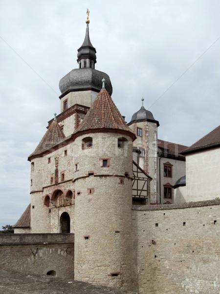 Forteresse château bâtiment pierre toit tour Photo stock © prill