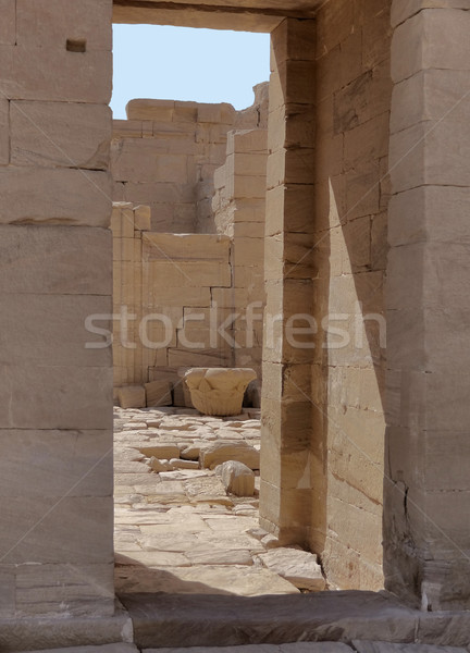 ruins at Qasr Dusch Stock photo © prill