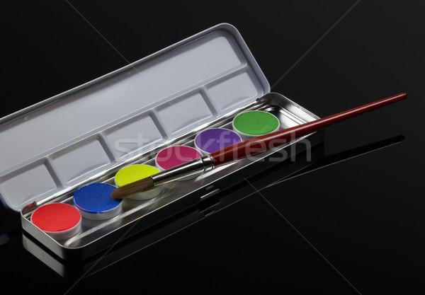 蛍光灯 ボックス 黒 戻る 塗料 ストックフォト © prill
