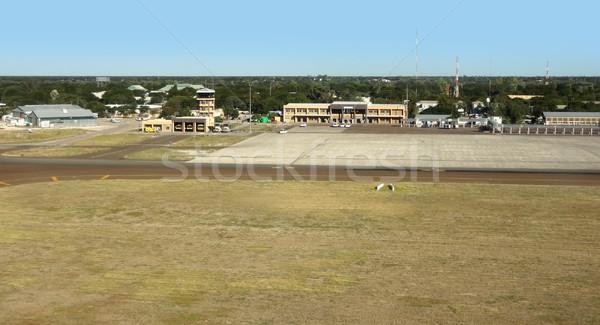 Havaalanı Botsvana Afrika ev Bina Stok fotoğraf © prill
