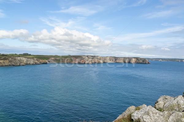 Yarımada sahil manzara su deniz yaz Stok fotoğraf © prill