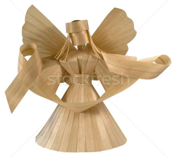 wooden angel sculpture Stock photo © prill