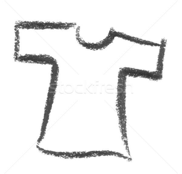 рубашку краской знак связи одежду эскиз Сток-фото © prill
