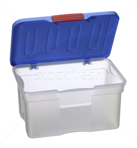 translucent plastic box with blue top Stock photo © prill