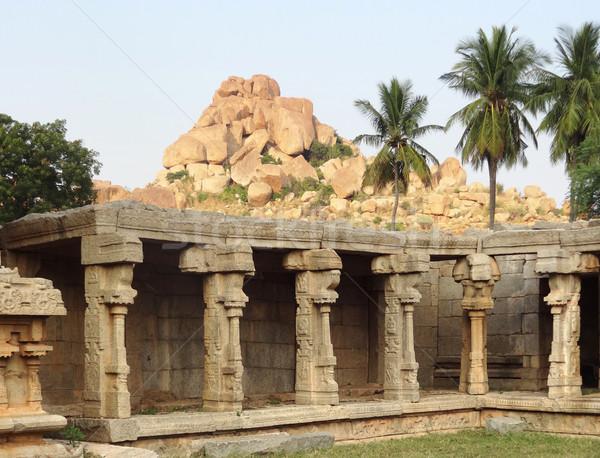 AchyutaRaya Temple at Vijayanagara Stock photo © prill