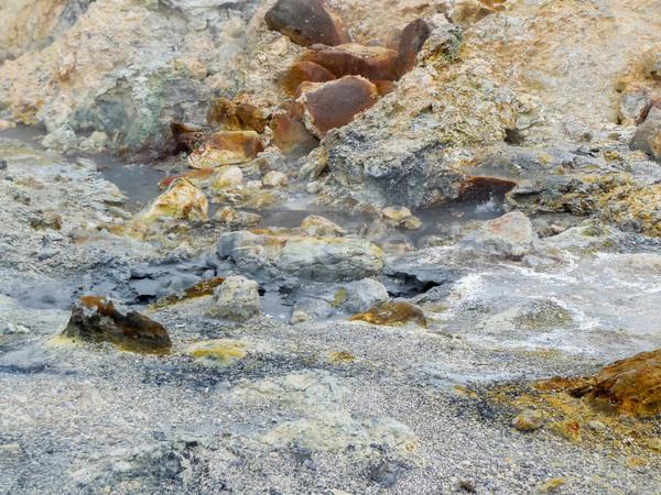 термальная ванна Исландия декораций воды природы каменные Сток-фото © prill
