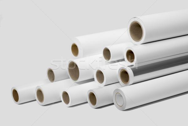 Impresión medios impresos luz gris Foto stock © prill